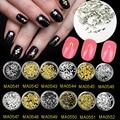 100 pçs/lote Prata Cobre Triângulo Prego Studs Spikes de Metal Ouro Nail Art Decoração Manicure 3D Prego ferramenta Fontes MA0541-MA0552