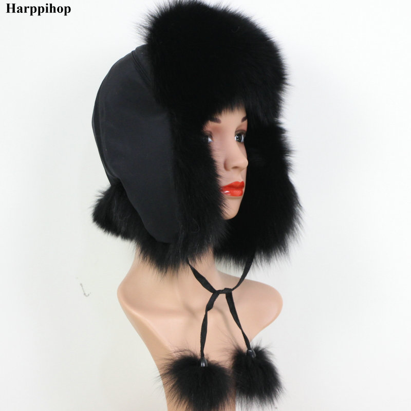 2019 100% fashion new style winter Russian natural real fox <font><b>fur</b></font> <font><b>hat</b></font> hot sale women warm good quality genuine real fox <font><b>fur</b></font> cap image