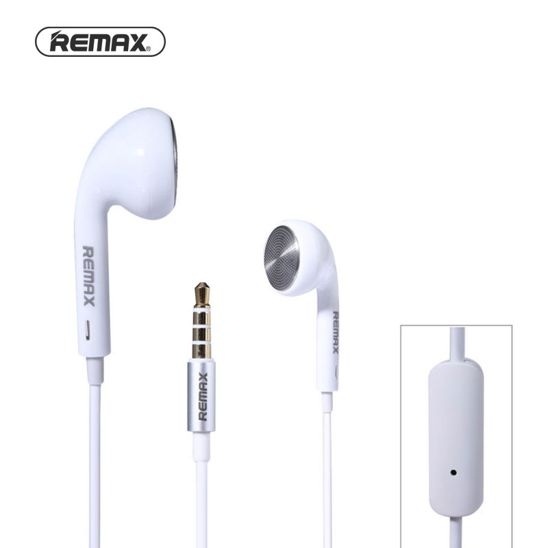REMAX RM-303 Wired Earphones w/Mic In-Ear For iPhone and Samsung flat stereo in ear earphones w mic clip for iphone htc samsung black white 3 5mm plug