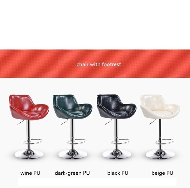 public house stool red green color seat meeting room chair lifting rotation bench free shipping PU leather reading room stool