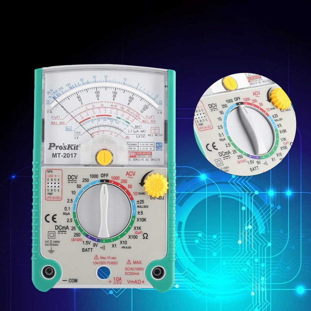Selling <font><b>2017</b></font> High Quality <font><b>Proskit</b></font> <font><b>MT</b></font>-<font><b>2017</b></font> AC/DC LCD Protective Function Analog Multimeter Free Shipping image