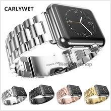 Новый стальной коннектор 316l для apple watch 38 мм 42 серебристый