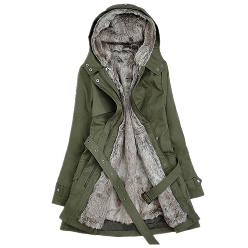 Chaqueta de Invierno para mujer 2019 Casual para mujer abrigo básico chaqueta de piel de botón cálida de manga larga parka de felpa abrigo Casual ropa de abrigo