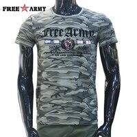 디자이너 여름 남성 짧은 소매 T 셔츠 코튼 플래그 인쇄 군사 위장 티 셔츠 안티 모기 티