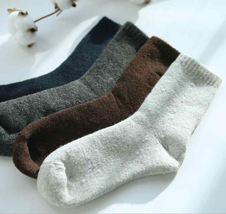 a8bdbd896d9 Thick alpaca Woman Socks Luxo Hipster Rabbit Wool Socks Warm 3 pairs Pride  Trendy Folk Terry