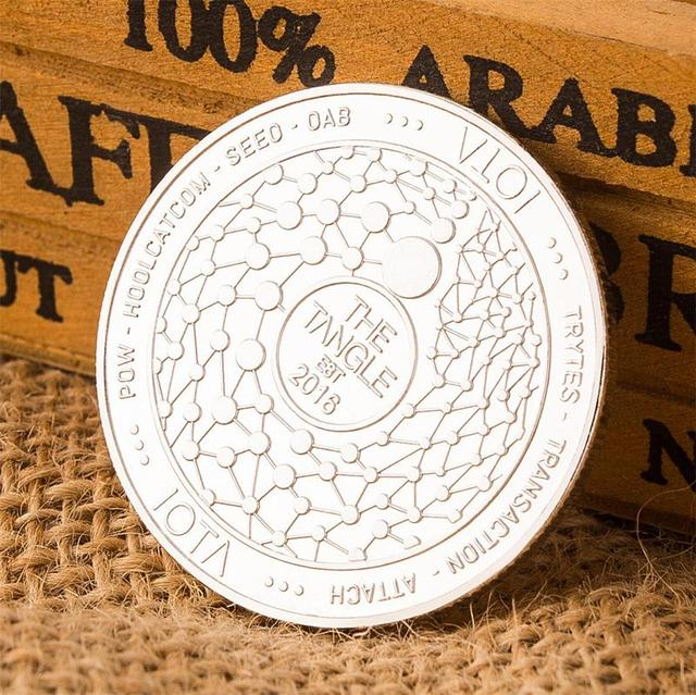 2018 New Arrival IOTA virtual digital currency Bitcoin embossed three-dimensional commemorative coin Dropshipping 2