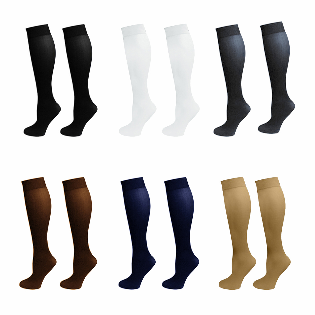 New Unisex  Nylon Pressure Compression Stockings Varicose Vein Leg Relief Pain Knee High Support Long For Men