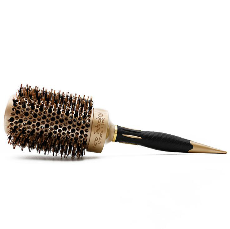 Image 3 - 5 size Ceramic Iron Hair Brush Anti static High Temperature Resistant Round Barrel Comb Hairstyling Drying Curling Tool-in Combs from Beauty & Health
