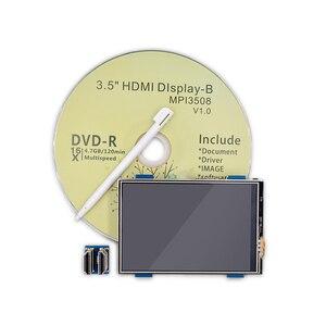 Image 2 - 3.5 pollici LCD HDMI USB Dello Schermo di Tocco Reale di HD 1920x1080 Display LCD per Raspberry 3/2/B +/B/A +