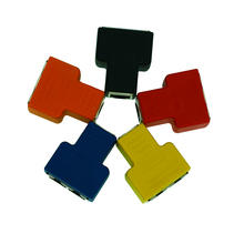 5pcs/lot Mixed Color connectors Copper Core RJ45 Ethernet Cable LAN Port 1 To 2 Socket Splitter Connector Adapter Splitter