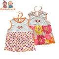 Chicas linda dress tanque del bebé del verano del bebé prendas de vestir exteriores de las muchachas ropa de bebé chaleco de bebé tops tst0002