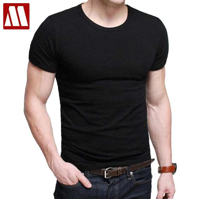 efba7d14 placeholder 2019 man's designer brand new short-sleeve t shirts fitness men  fashion flexible cotton casual