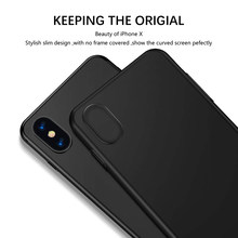 GrandEver Ultra-thin Hard Case For Iphone 7 6 6s 8 plus Cover For Plain Pc Classic Minimalism Luxury Origial Coque For iphone X(China)