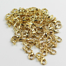 PZ6 Gold Plated Zinc Alloy Connector 100 Pieces / Pack Exquisite Silver Plated DIY Lobster Clasps Handmade Accessories Wholesale