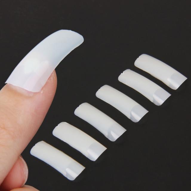 500 Pcs/Set False Nail Art Design Tips Full Cover Nude White French Acrylic Polish UV Gel Sticker Salon Design Manicure Tools