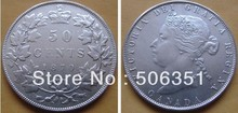 {1870-1901} 9 coins Canada 50 cents coins copy FREE SHIPPING(China)