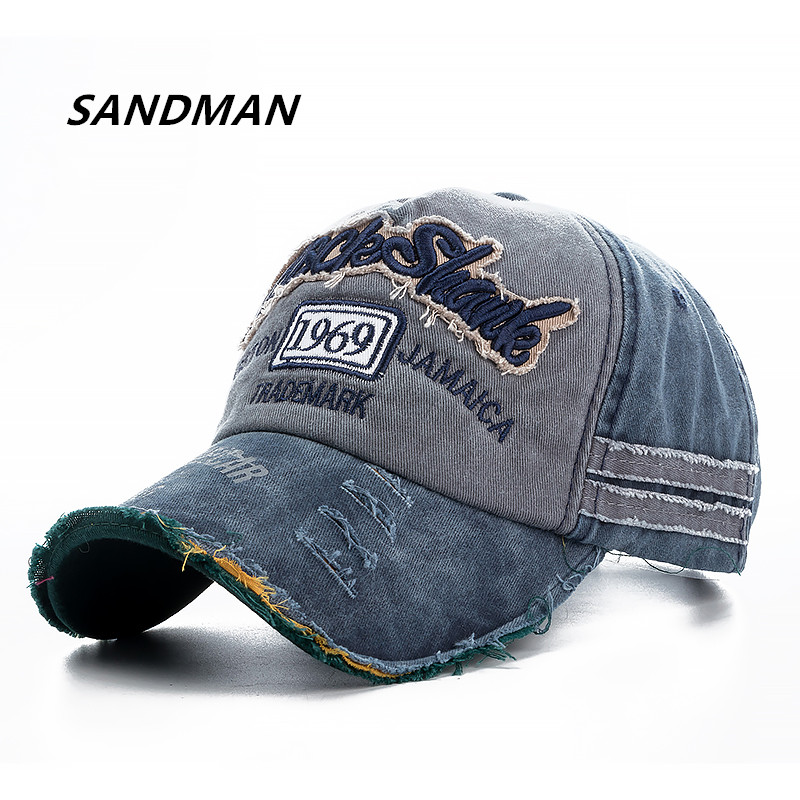 SANDMAN Brand Wash Cotton Cap For Men Women Gorras Snapback Caps Rock Shark Baseball Caps Casquette Dad Hat Outdoors Cap 2017 brand snapback men baseball cap women caps hats for men bone casquette vintage dad hat gorras 5 panel winter baseball caps