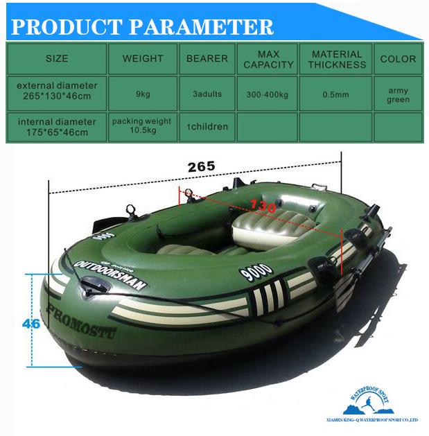 2 person 192x115 cm pvc inflatable boat <font><b>fishing</b></font> raft boat PVC kayak rowing boat paddle oar pump seat cushion bag rubber dinghy
