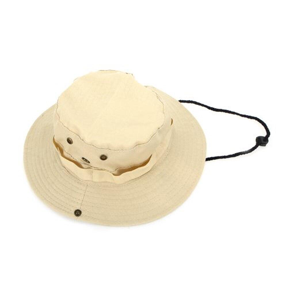 Super sell Outdoor Men Women Unisex Hat for Fishing Trekking Camping Hiking Sport Sun Cap Round Rim Hat (Beige)