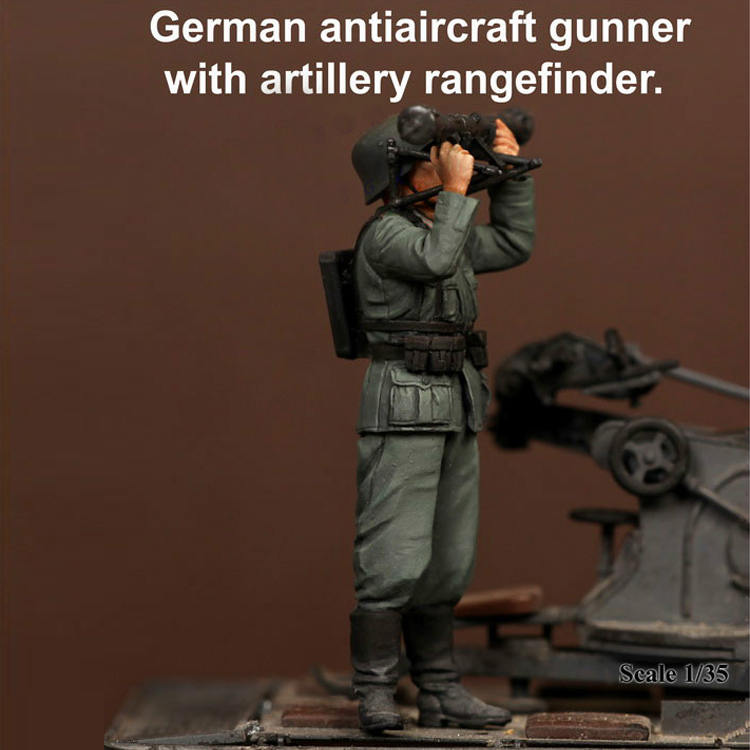 Crazy King1/<font><b>35</b></font> <font><b>resin</b></font> soldier <font><b>model</b></font> <font><b>German</b></font> air defense ranger hand to do gk white <font><b>model</b></font> World War II military 237 image