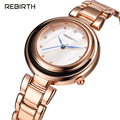 REBIRTH Luxury Dress Brand Fashion Watch Woman Ladies Relogio Feminino Dress Clock Female Relojes Mujer 2016 New RE040