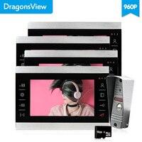 Dragonsview 7 zoll 960 P Video Tür Telefon Intercom Kit Video eye HD Video Türklingel Haus intercom Motion erkennung aufnahme Sprechen-in Videosprechanlage aus Sicherheit und Schutz bei