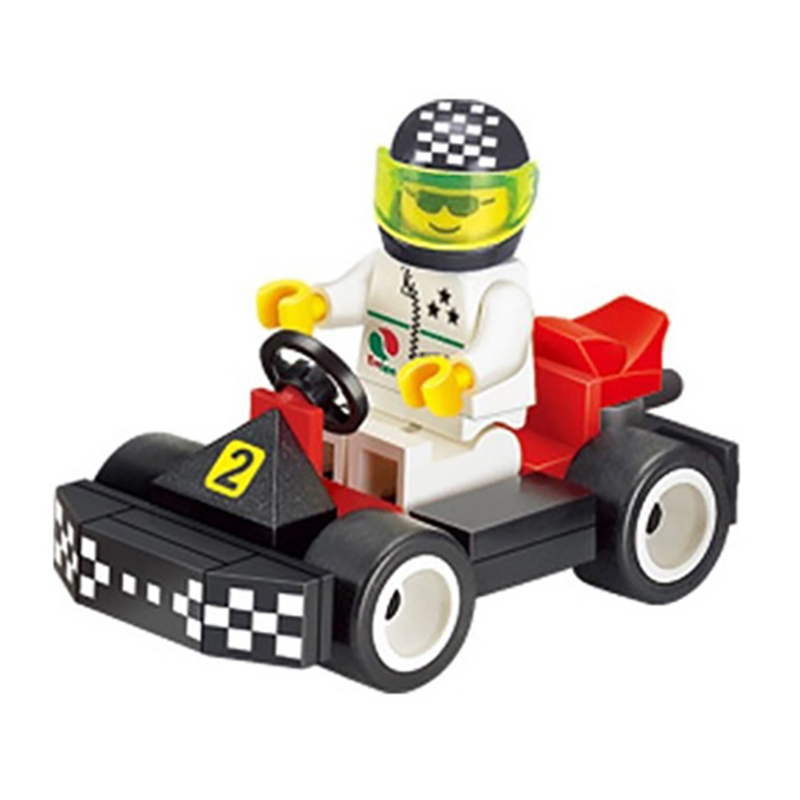 33pcs Children Speed Karting Racing Car Blocks Figures Bricks Building Blocks Enlighten Bricks Gifts Toys for Boys K2543-1204 8 in 1 military ship building blocks toys for boys