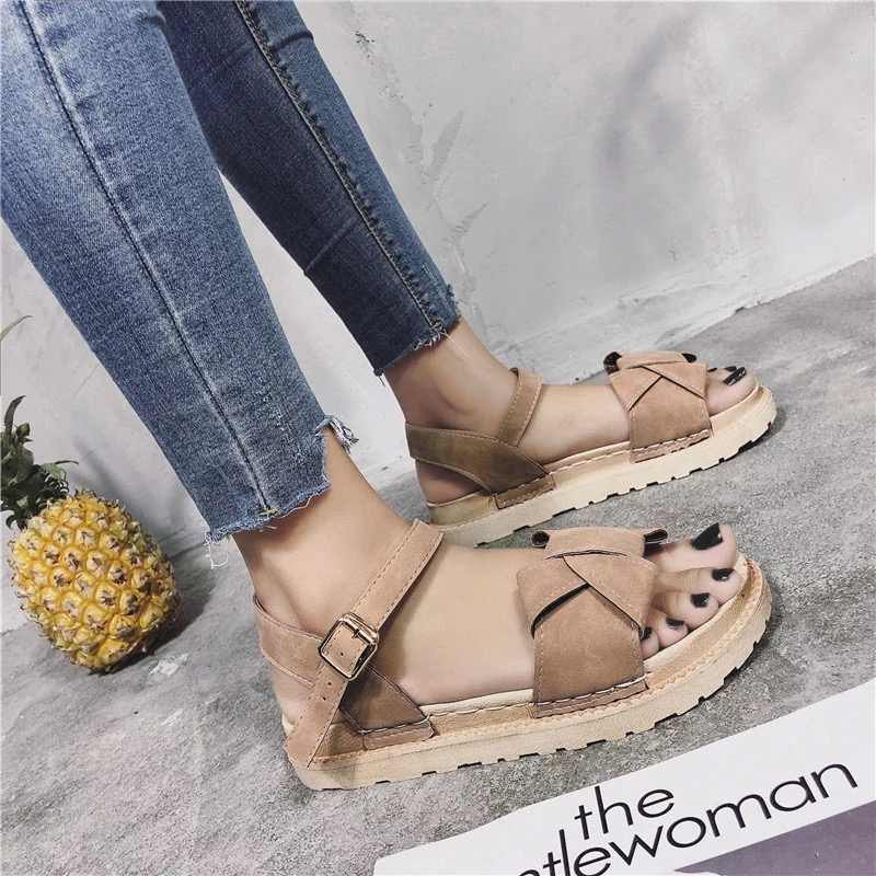 e4a2b7b1ab Detail Feedback Questions about 100% genuine leather Roman sandals ...