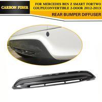 Difusor traseiro de carbono para estilização de automóveis  farol amortecedor para smart fortwo 2012-2013