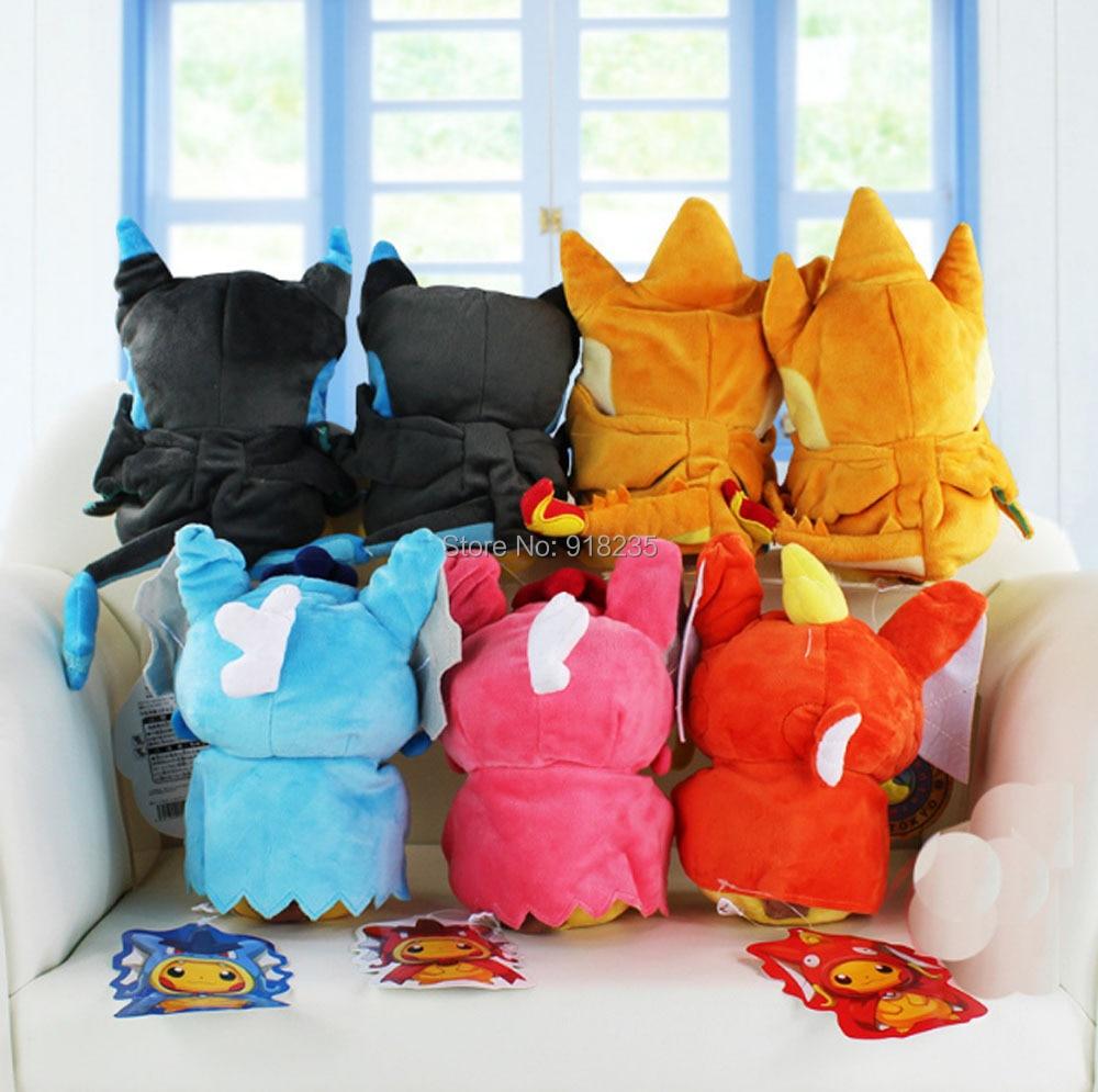 10/Lot 20 25 ซม.Pikachu คอสเพลย์ X Charizard Magikarp Brinquedo นุ่มตุ๊กตาสัตว์ตุ๊กตาตุ๊กตาแฟชั่นตุ๊กตาของเล่น-ใน ภาพยนตร์และทีวี จาก ของเล่นและงานอดิเรก บน   2