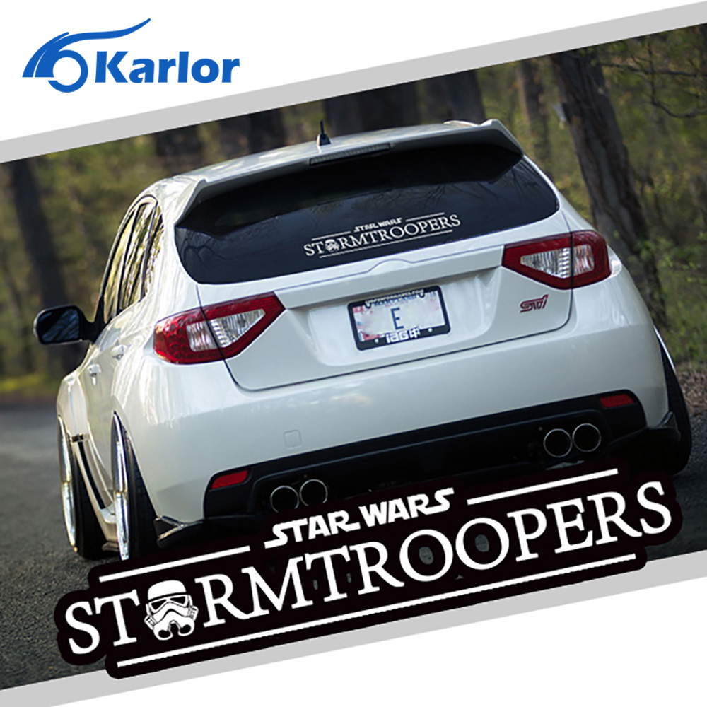 Car decal design singapore - Star Wars Stormtroopers Darth Vader Ho Skywalker Vinyl Black White Reflective Car Auto Decal Window