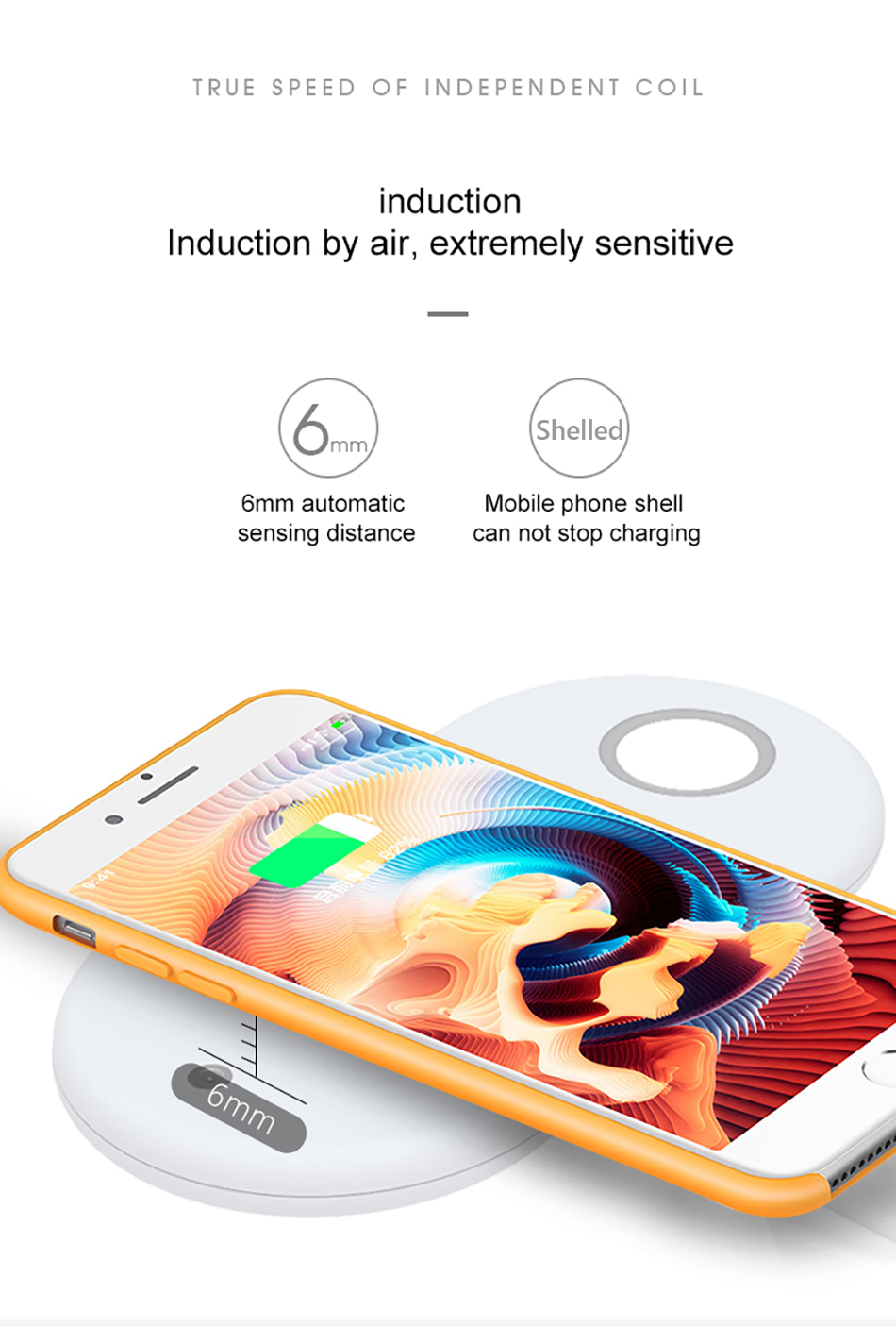 !ACCEZZ Qi Wireless Charger Fast Charging 3 in 1 For iPhone X XS Max 10W For Apple Watch Airpods USB Qi Charger Pad For Samsung (10)