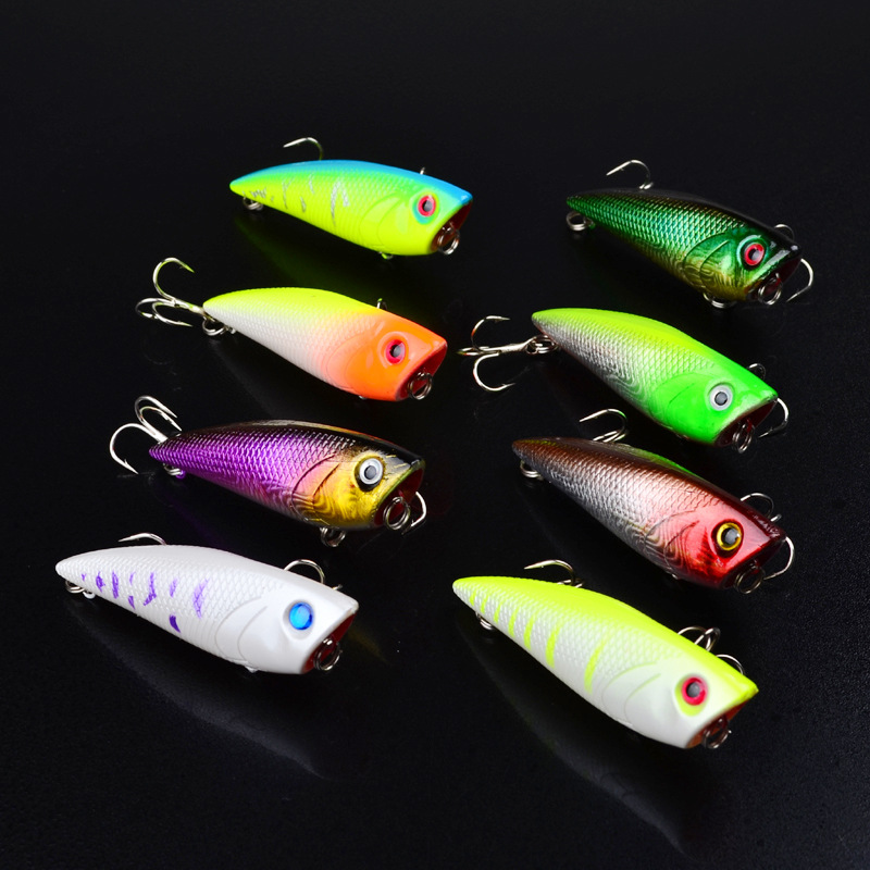1pcs 6.7cm 7.5g Popper Fishing Lure isca artificial fishing bait Crankbait Wobblers 6# high carbon steel hook Fishing Lures