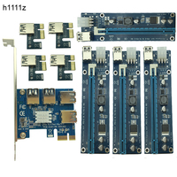 NEW Card PCIe 1 To 4PCI Express 16X Slots Riser Card PCI E 1X To External