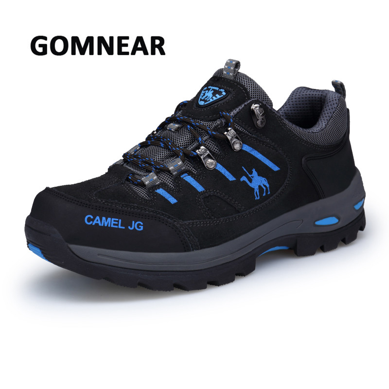 GOMNEAR Men Hiking Shoes Breathable Fishing Trekking Shoes Tactical Boots Male Outdoor Camping Sneakers Comfortable Sport Shoes цена