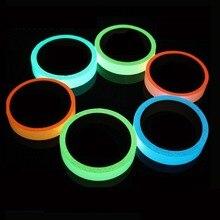 Yansıtıcı Glow bant kendinden yapışkanlı etiket çıkarılabilir parlak bant floresan parlayan koyu çarpıcı uyarı bandı Dropshipping