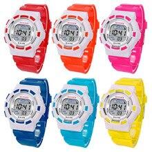 Waterproof Children Boys Digital LED Sports Watch Kids Alarm Date Watch Gift Brand New High Quality Luxury Free Shipping #370717