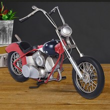 Free Shipping Handmade Retro Rural Classic Red Motorcycle Model