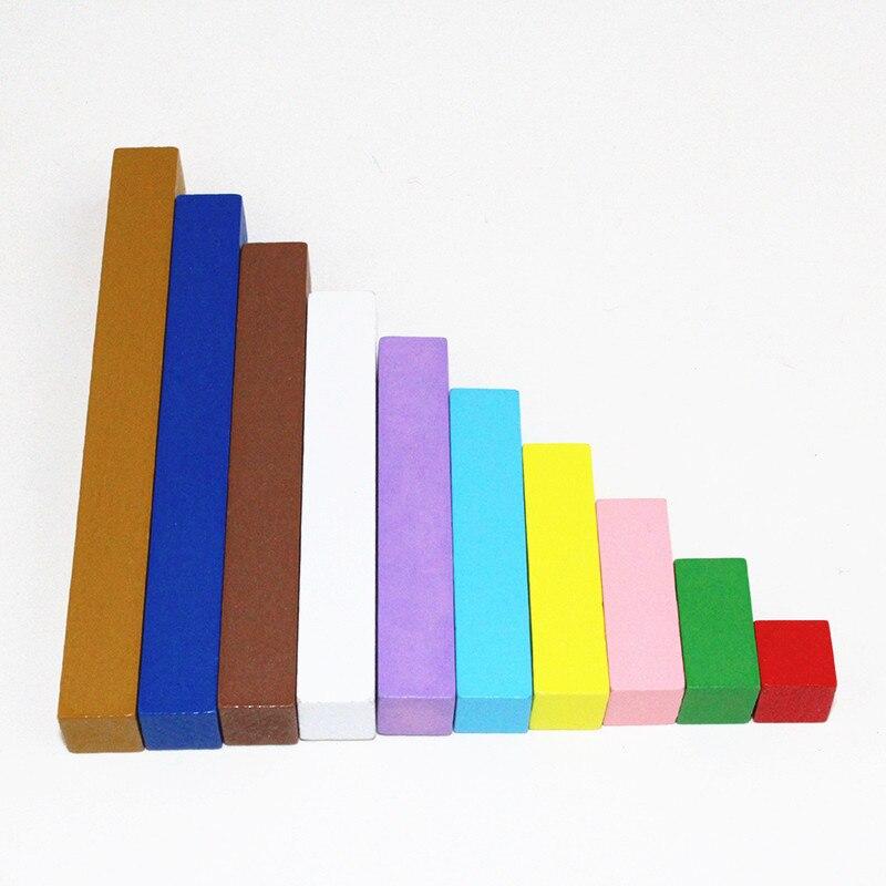 20 sortes 1-10 cm blocs bâton numérique en bois jouets enfant jouets éducatifs enseignement Montessori jouet de mathématiques - 4