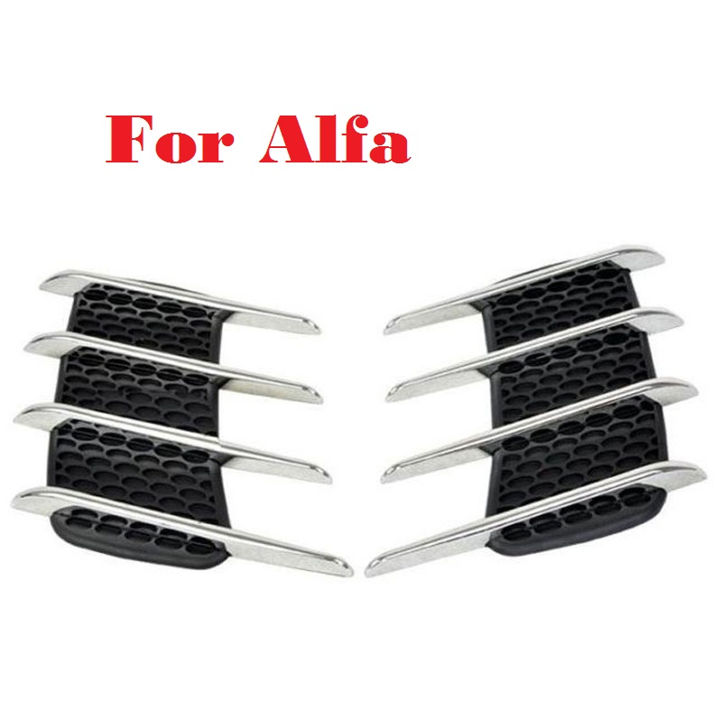 2017 car styling Shark Gills Outlet Stickers Vent Side Air intake Car Styling For Alfa Romeo 147 156 159 166 4C 8C Brera 10x car wheel snow chains for mini cooper r56 r50 r53 f56 f55 r60 r57 for alfa romeo 159 147 156 166 gt mito accessories