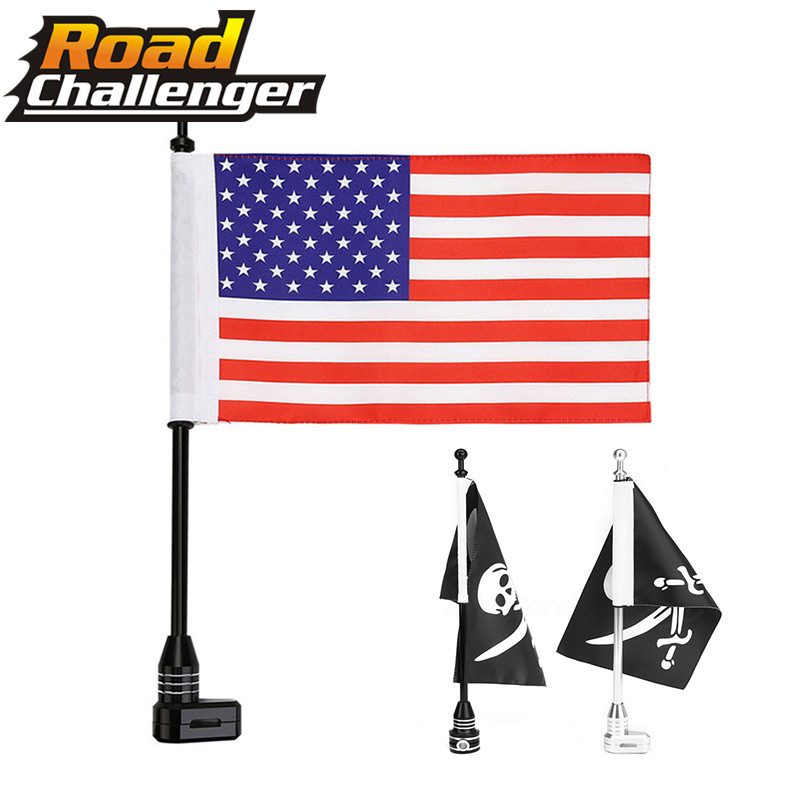 Rear Vertical Ameriacn Flag Pole Luggage Rack for Honda Goldwing GL1800 01-2011
