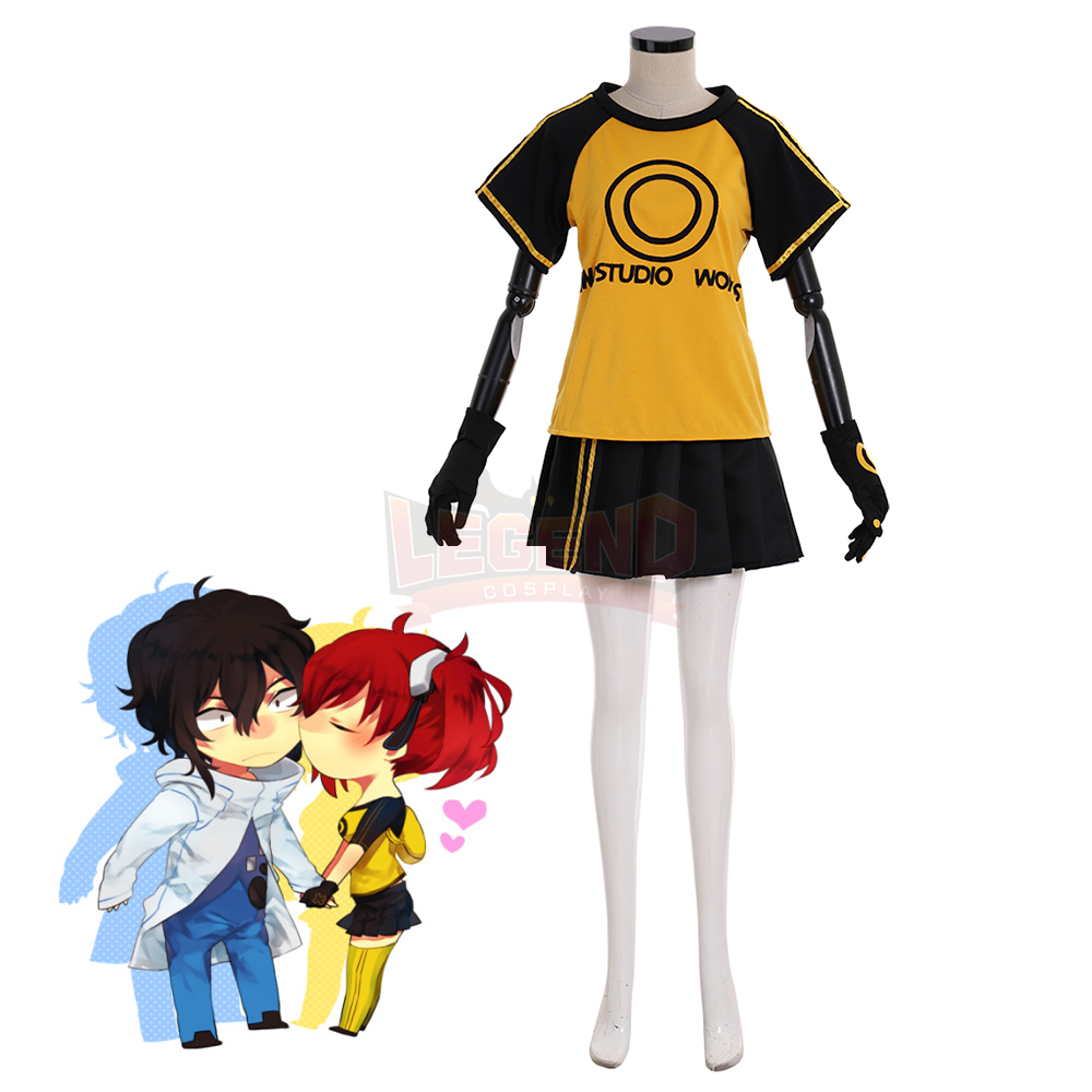 Game Digimon Story Cyber Sleuth Hacker's Memory Takumi Aiba Ami Aiba Cosplay costume adult halloween costume custom made image
