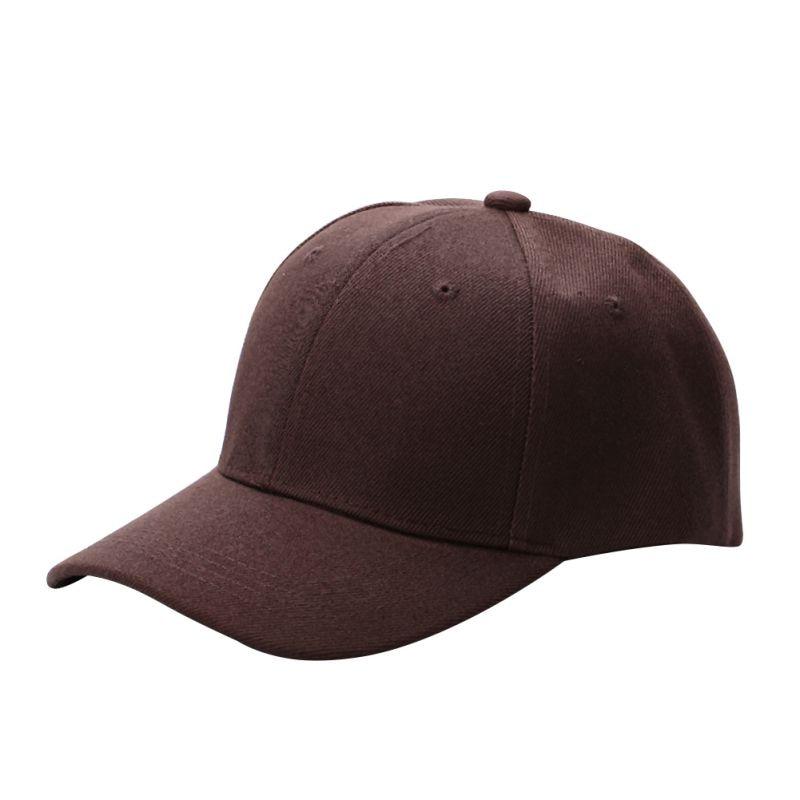 Unisex Adjustable Baseball Army Cap Blank Plain Solid Visor Sun Hat Caps 3b0915179e73
