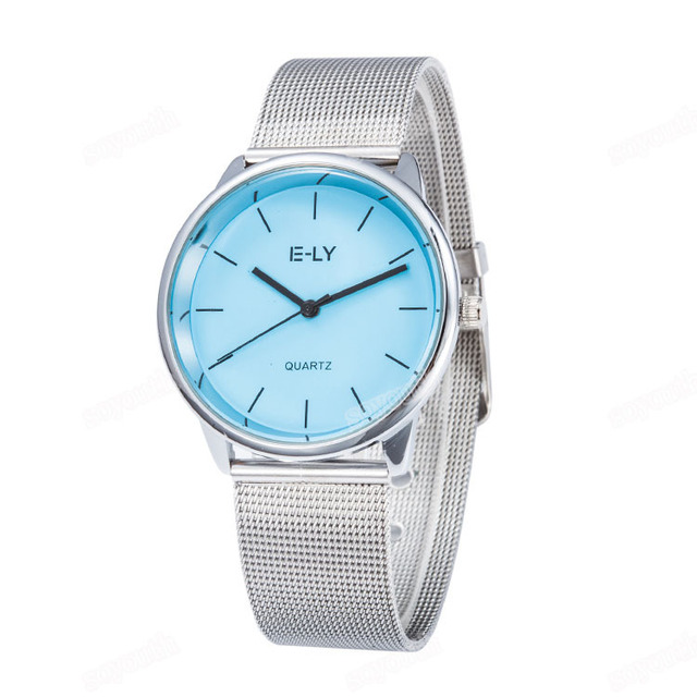 Colorful Dial Mesh Stainless Steel Watch 3