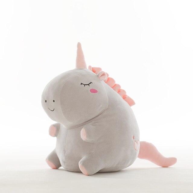 Unicornio de peluche de juguete gordo unicornio muñeca lindo animal de peluche unicornio suave almohada bebé juguetes para niños niña cumpleaños regalo de Navidad 3