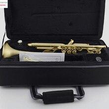 Профессиональный матовый кожаный чехол Bb Trumpet Horn Monel с 2 мундштуками