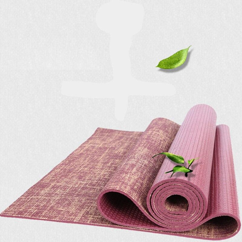 Natural Jute Yoga Mat Pad 183 61 cm 5 mm Eco Friendly Reversible Hybrid Linen Yoga
