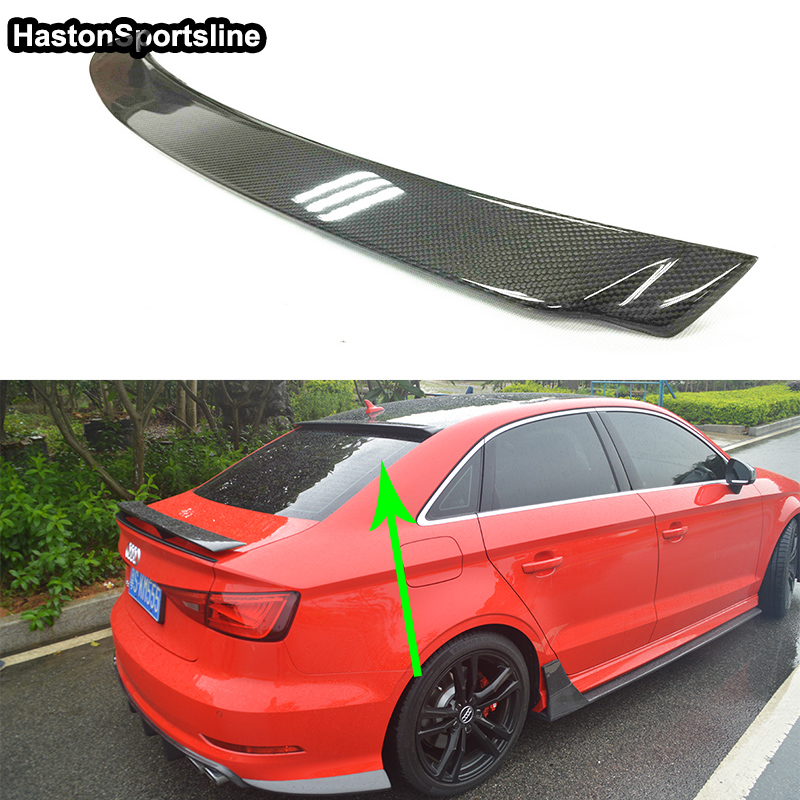A3 Sedan SD Style Carbon Fiber Auto Car Rear Roof Spoiler Top Wing for Audi A3 Sedan 2014-2017 for audi a3 s3 2014 2015 2016 sedan 4doors high quality carbon fiber rear wing roof rear box decorated rear spoiler