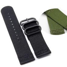 Suitable For Garmin Fenix3 HR Nylon Watchbands, 26MM Black / Green Strap + 2Pcs Screwdriver