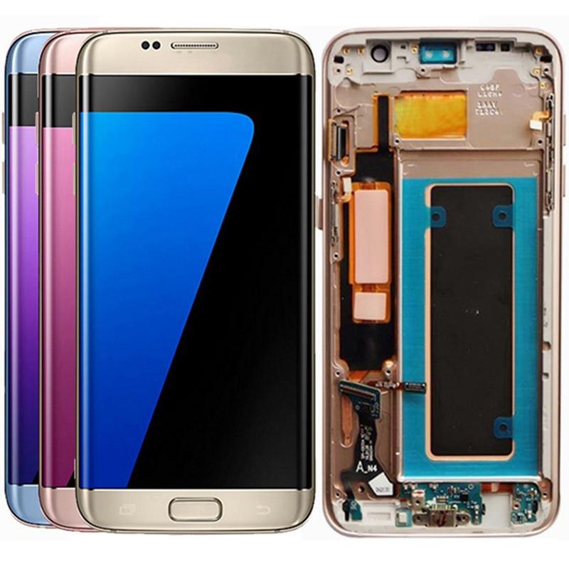 Original G935F LCD pour Samsung Galaxy S7 bord LCD écran cadre affichage écran tactile numériseur assemblée LCD S7 bord écran d'affichage